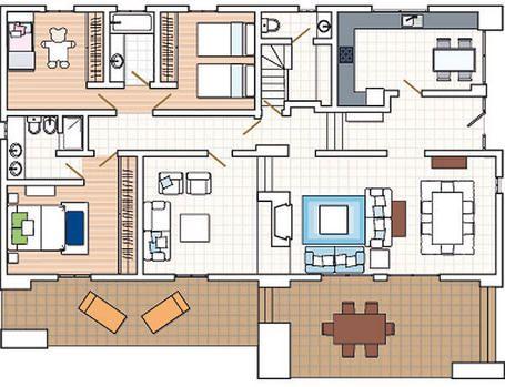 20 planos de casas chicas planos y fachadas todo para Planos interiores de casas modernas