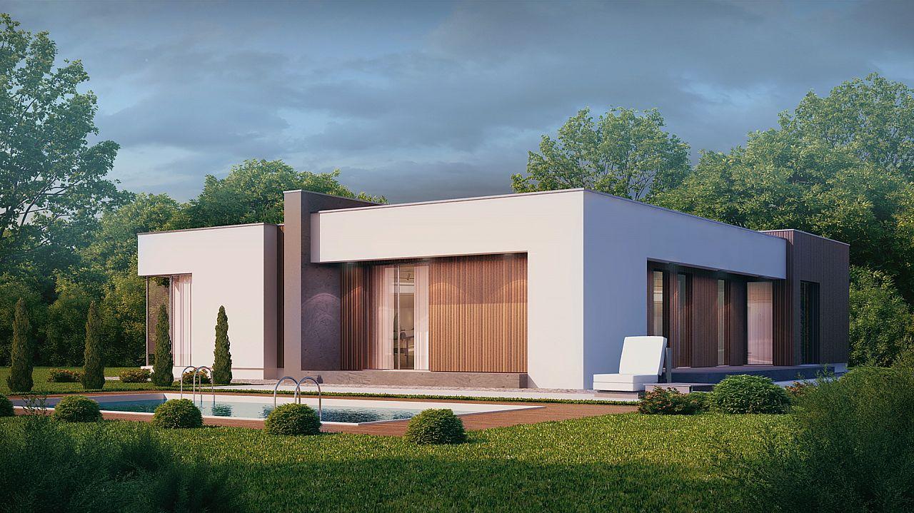 Fachadas de casas modernas de un piso planos y fachadas - Oggettistica moderna per la casa ...