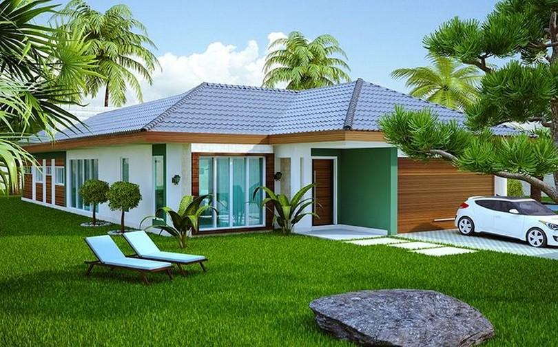 Fachadas de casas modernas de un piso planos y fachadas for Fachadas de casas de un piso