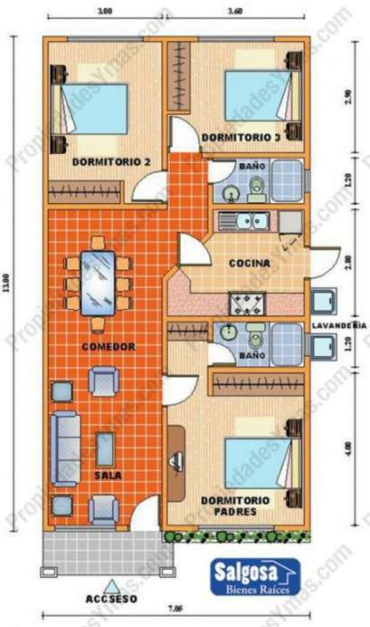 Planos de casas modernas de 3 dormitorios planos y for Planos para tu casa