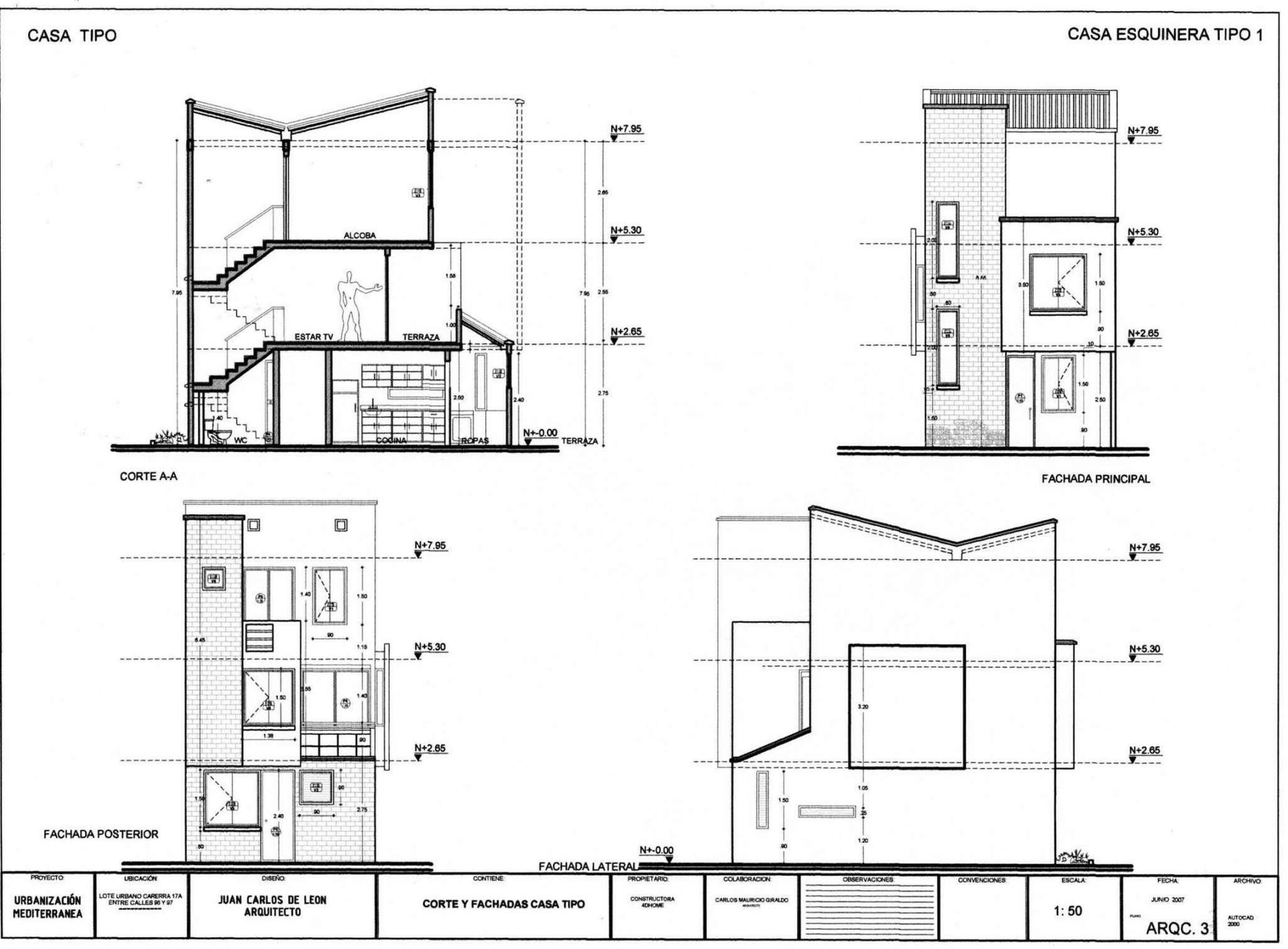 Planos de casas peque as de un piso planos y fachadas for Planos y fachadas de casas pequenas