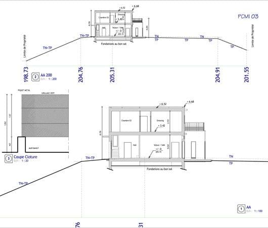 Plan Coupe Maison: Dessiner Une Coupe Pour Un Permis De Construire : Exemple