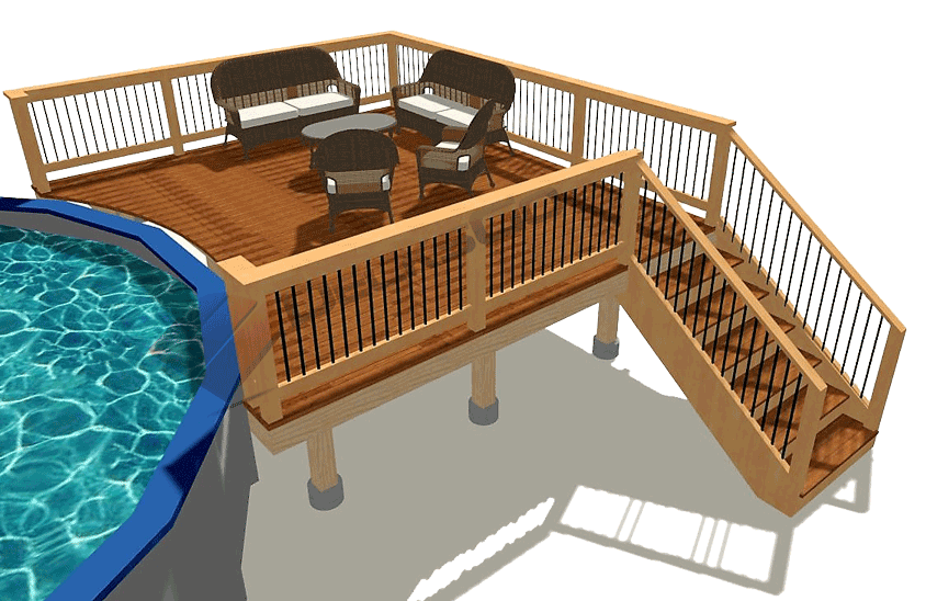 Basic Rectangle Pool Deck Decksgo Plans