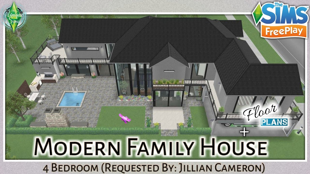 The Sims Freeplay Trendy Household Home Four Bed Room Tour Ground Plans Easy Home Plans