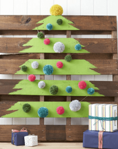 Christmas tree from pallet