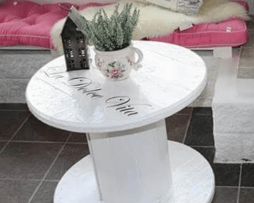 white Bed Table