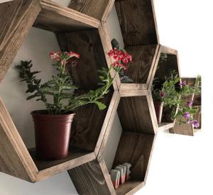 Hexagonal shelves 1