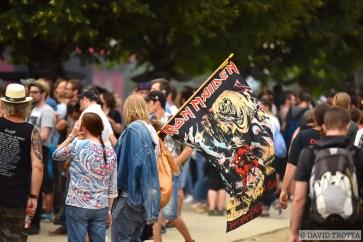 AVRIL   Le Paléo Festival dévoile la programmation de son édition 40+1 et relate une anecdote plutôt cocasse sur Iron Maiden, tête d'affiche du mercredi 20 juillet. Habitué à voyager à bord de son avion de ligne, piloté par le chanteur Bruce Dickinson, le groupe britannique avait annoncé à l'avance sa venue à Nyon. Personne n'a remarqué la chose, mais la ville de la Côte était mentionnée sur l'appareil parmi les autres dates de la tournée d'Iron Maiden. © David Trotta. LIRE L'ARTICLE: https://planscultes.ch/2016/04/13/lanecdote-rock-de-ledition-2016-de-paleo/