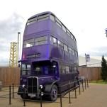 Le bus magique qui emmène Harry de chez son oncle jusqu'à Londres dans Harry Potter et le prisonnier d'Azkaban. © David Trotta