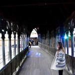 Le pont qui mène à Poudlard que l'on voit dans tous les épisodes de la saga. © David Trotta