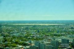 Vu depuis la tour de la télévision, l'ancien aéroport de Berlin-Tempelhof (secteur Ouest). © David Trotta