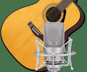 guitare acoustique avec le Neumann TLM103