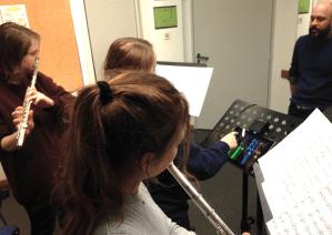 trio de flutes traversières et électronique