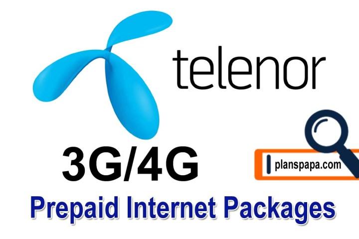Telenor prepaid internet packages