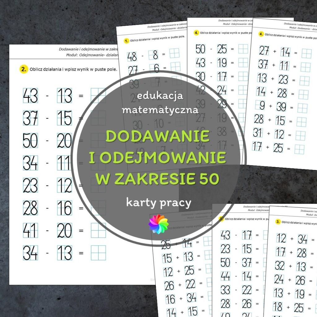 karty pracy matematyka pdf do druku edukacja matematyczna dodawanie odejmowanie