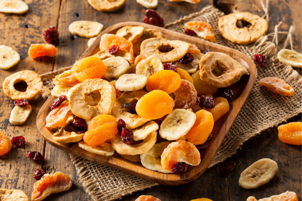 Dried fruit rich in iron.