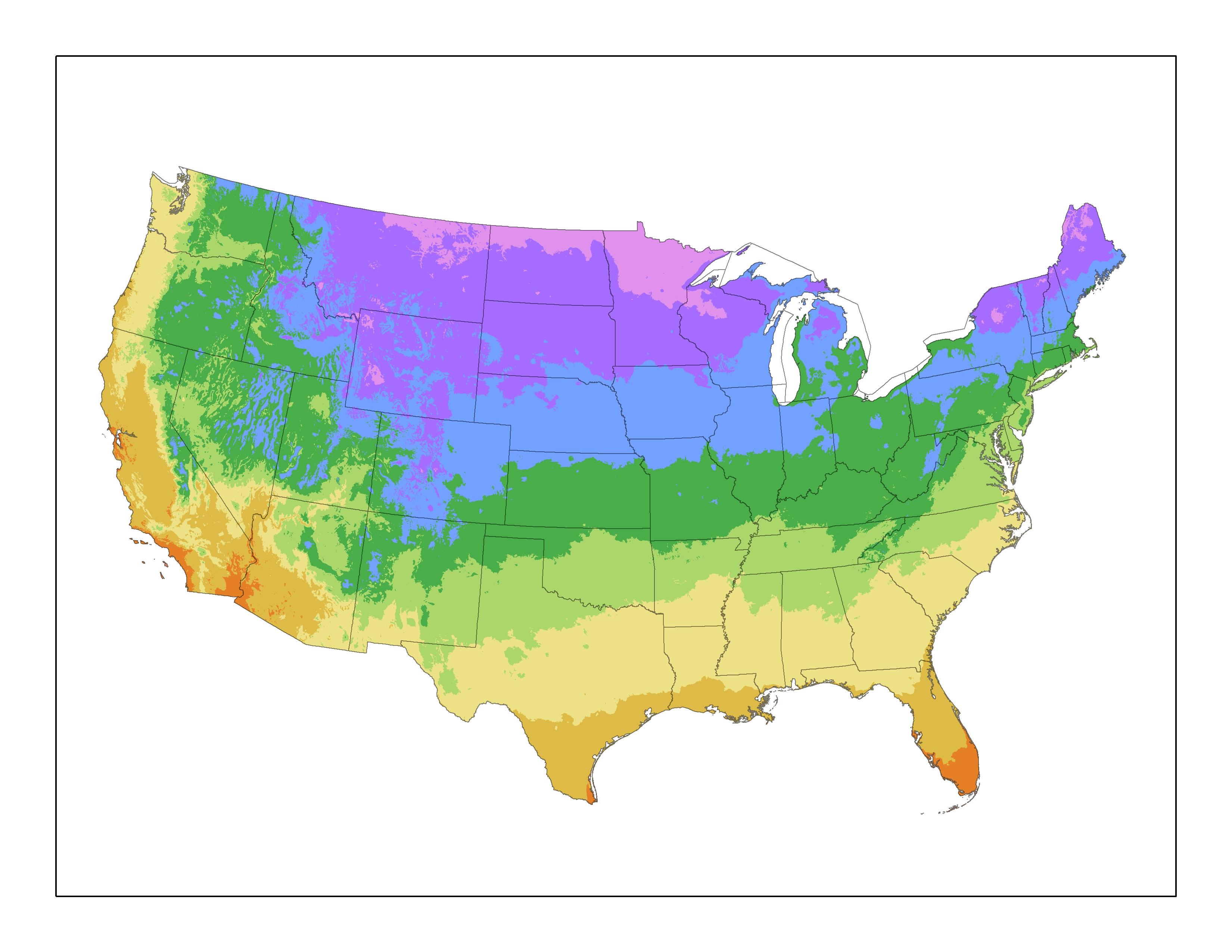 United States Plant Zone Map