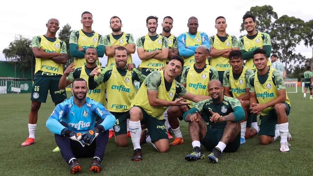 Escalação do Palmeiras: Verdão encerra preparação para final com retorno de Gabriel Veron
