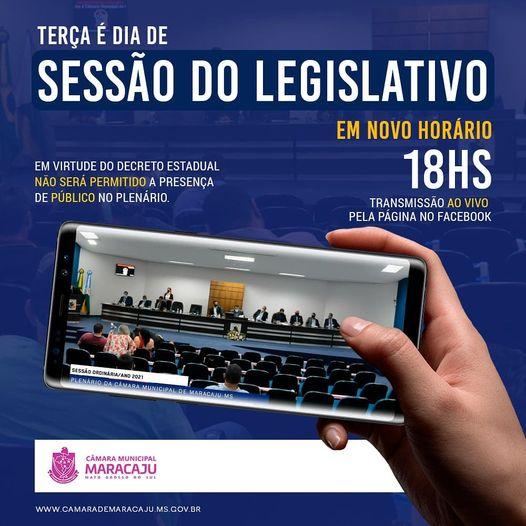 Câmara muda horário de sessão em virtude do decreto estadual