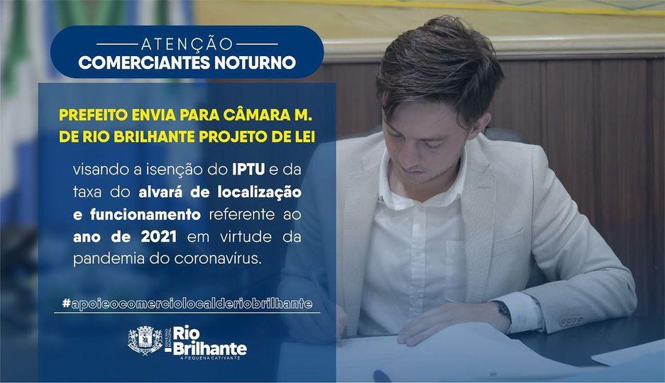 Prefeito cria projeto de Lei para isenção do IPTU e taxa do alvará aos empresários com atividades noturnas