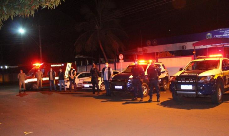 Todos contra a Covid-19, Vigilância Sanitária, Polícia Militar e Bombeiros realizam plantão contra aglomeração