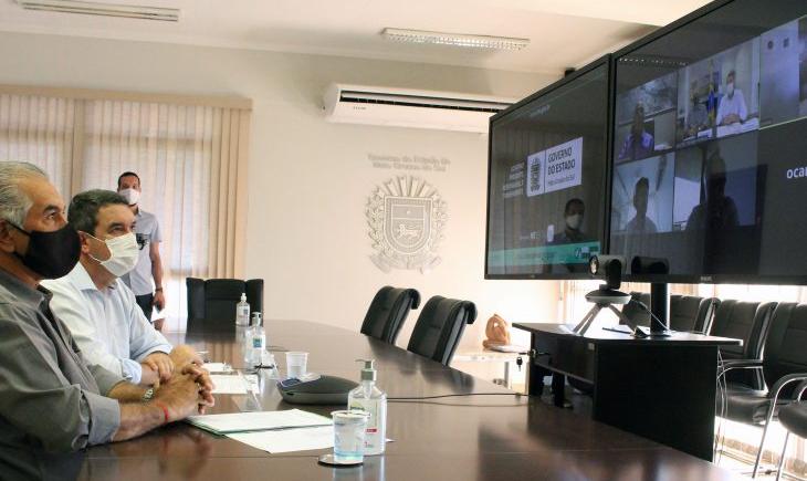 Com banco internacional, Reinaldo Azambuja discute projetos de desenvolvimento para MS