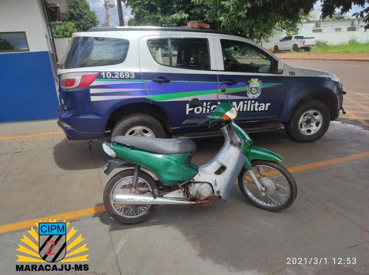 Polícia Militar de Maracaju recupera veículo com queixa de Furto/Roubo