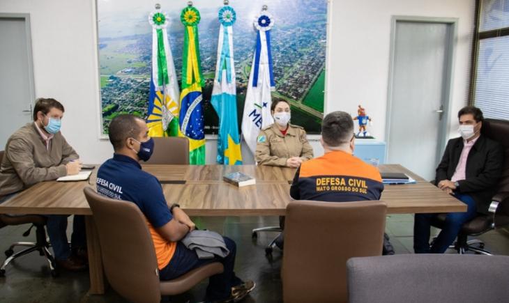 Prefeitura e Defesa Civil alinham atendimentos em Maracaju