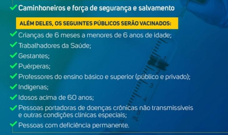 Prefeitura de Maracaju amplia grupos prioritários de vacinação contra a Gripe