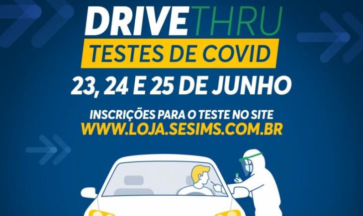"""Covid-19: Prefeitura realiza testes em """"Drive Thru"""" esta semana"""