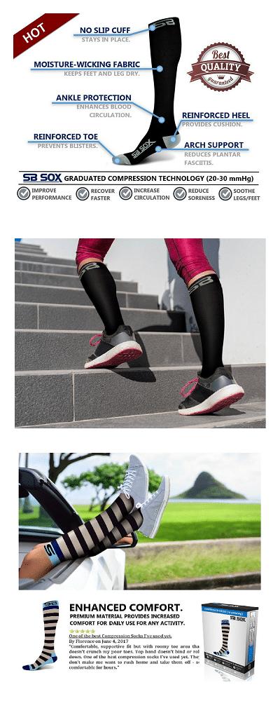 Plantar Fasciitis Socks - SB Socks Compression