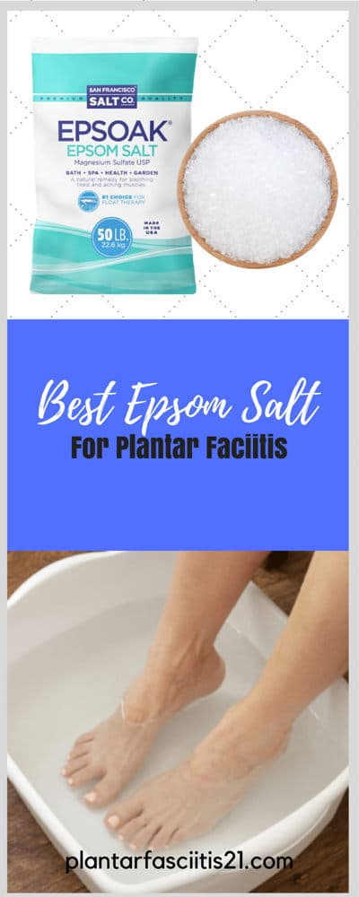 Epsom Salt for plantar fasciitis