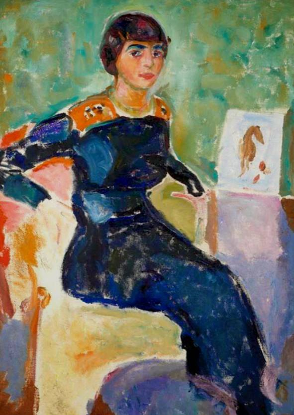 Edvard Munch – Woman portrait drawing class in Kunsthaus