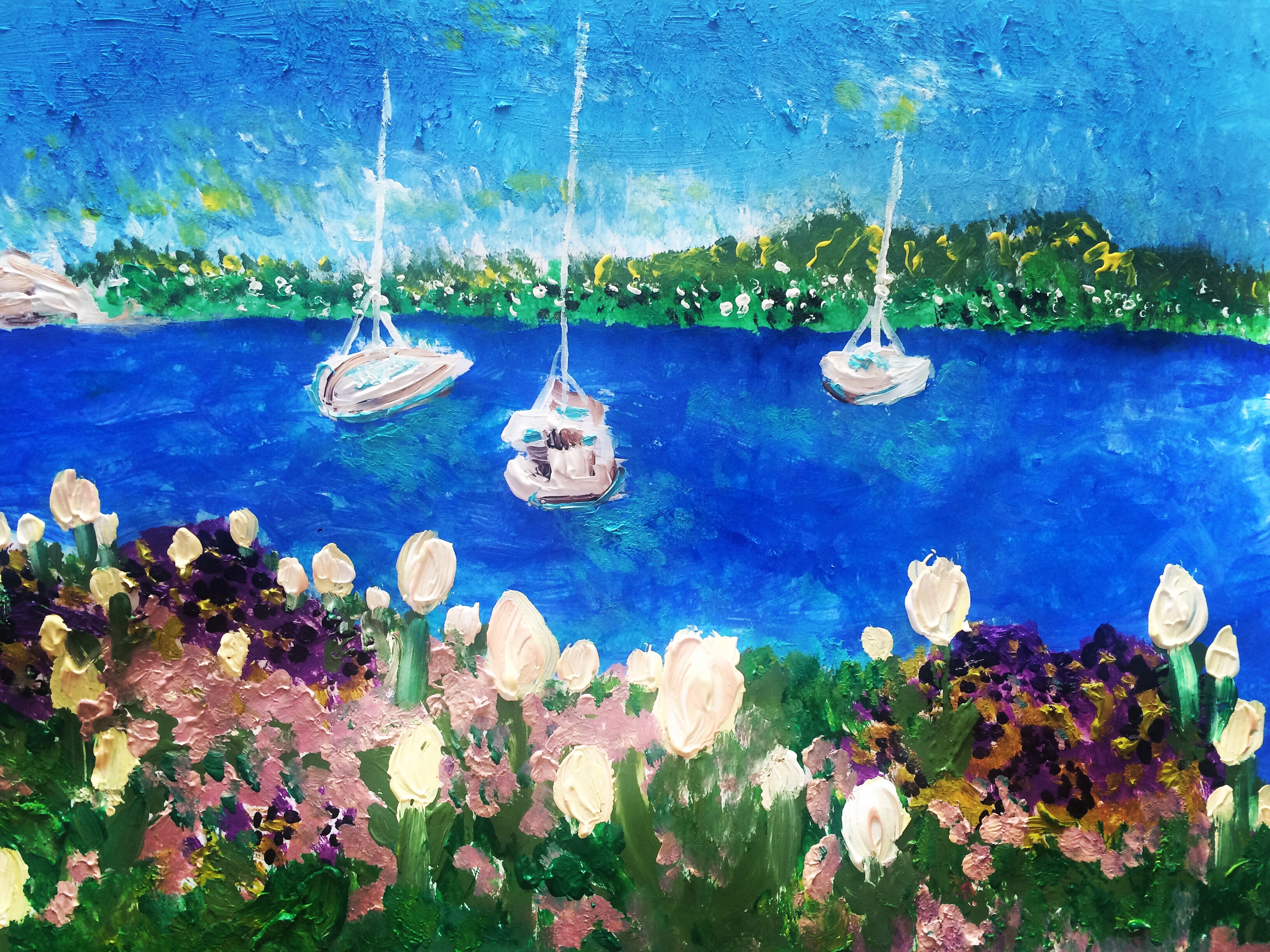 Garden painting – Zurich Lake