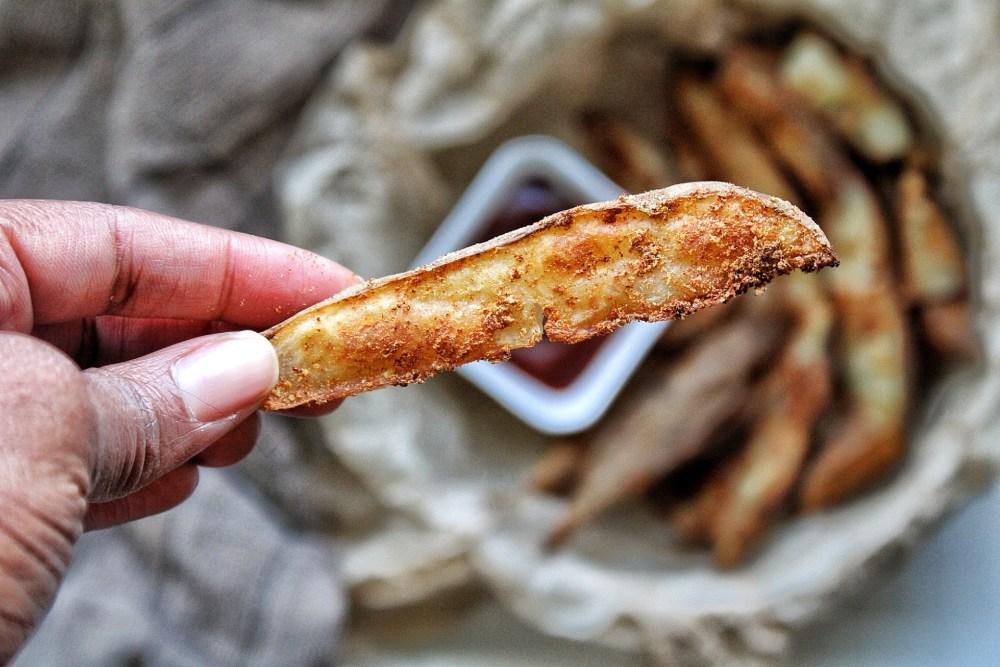 Crispy potato wedge