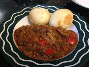 Mediterranean Lentil, Eggplant & Mushroom Ragout