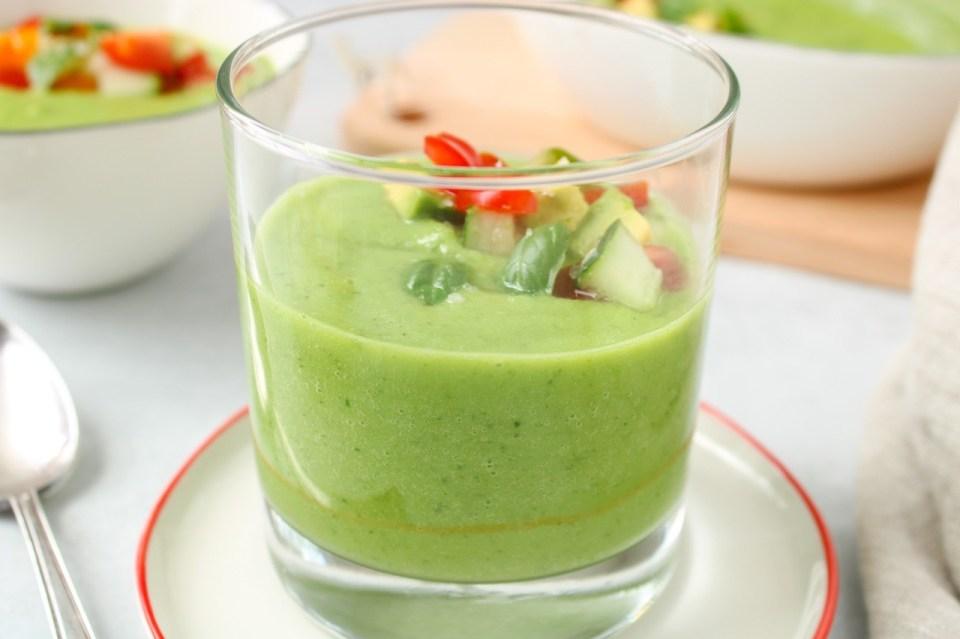 vegan cold cucumber soup