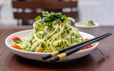 Spiralize Cucumber or Zucchini Your Way to Meatless Monday