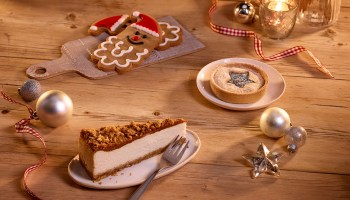 Costa's vegan menu featuring vegan gingerbread, biscoff cheesecake and mice tart