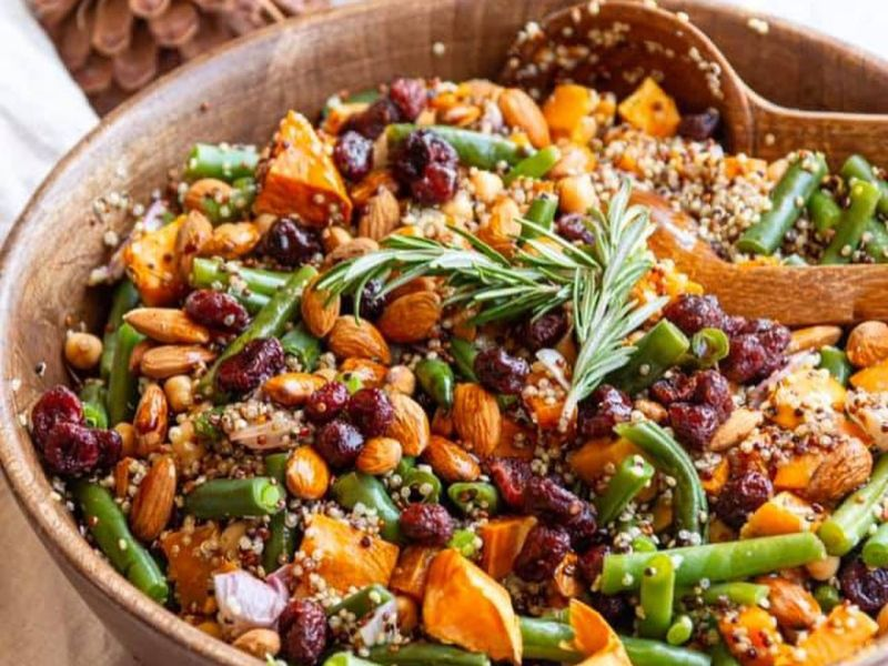 healthy vegan christmas salad