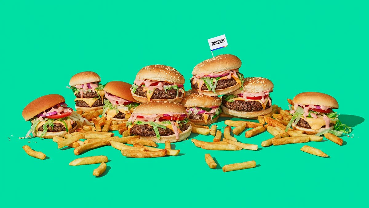 impossible foods meat-free burgers
