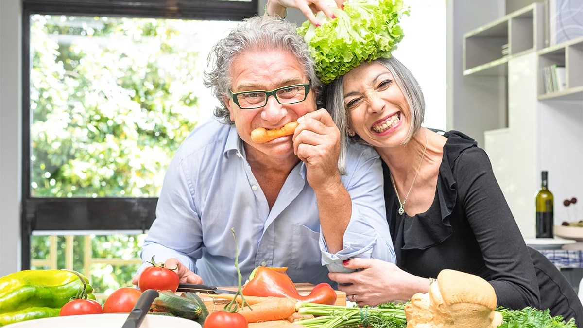 seniors eating plant-based
