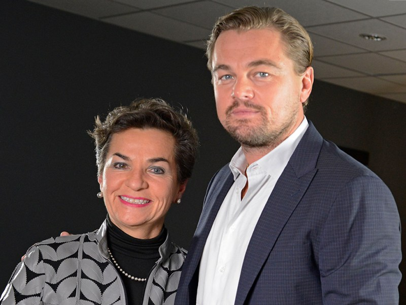 Paris Agreement Architect with Leonardo DiCaprio