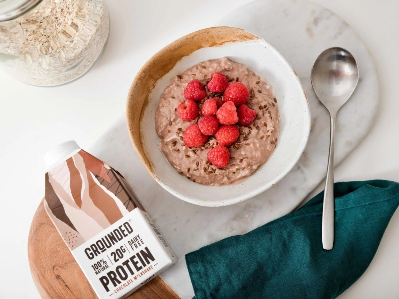 overnight soaked protein oats grounded