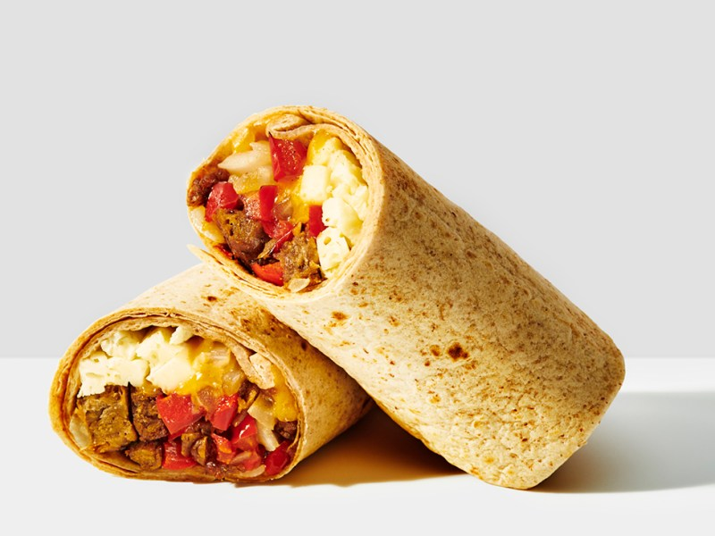 Gregory's new vegan egg burrito sandwich