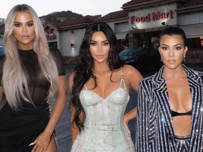 Kim Kardashian and her sisters who have converted to a plant-based diet