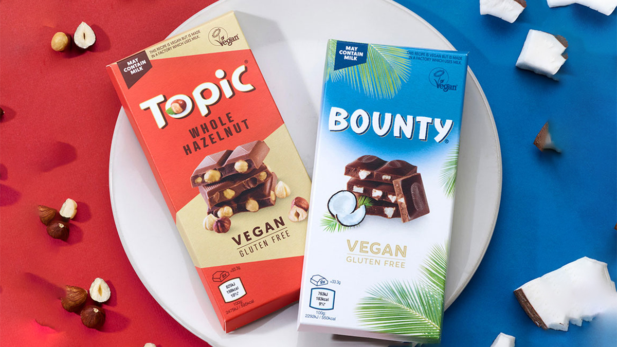Mars launches vegan topic and bounty bars
