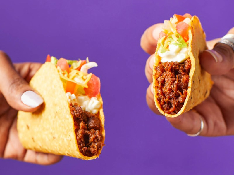 Taco Bell vegan meat made from oats