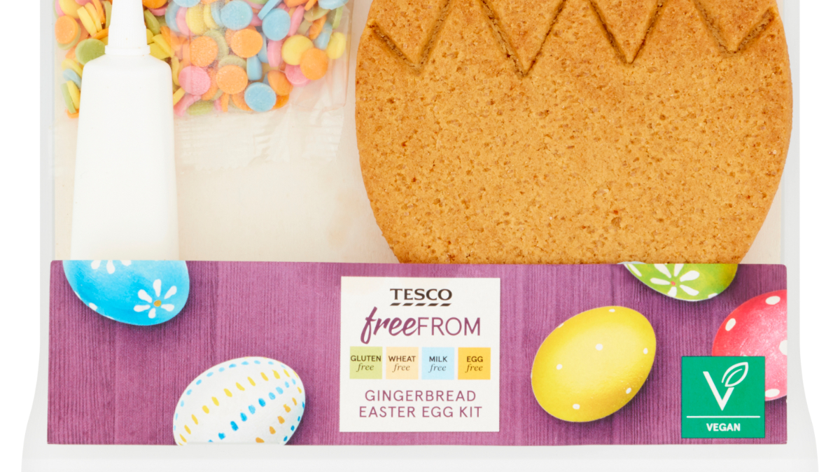 Tesco unveiles its 'biggest ever' Free From range for Easter, including new products suitable for vegans