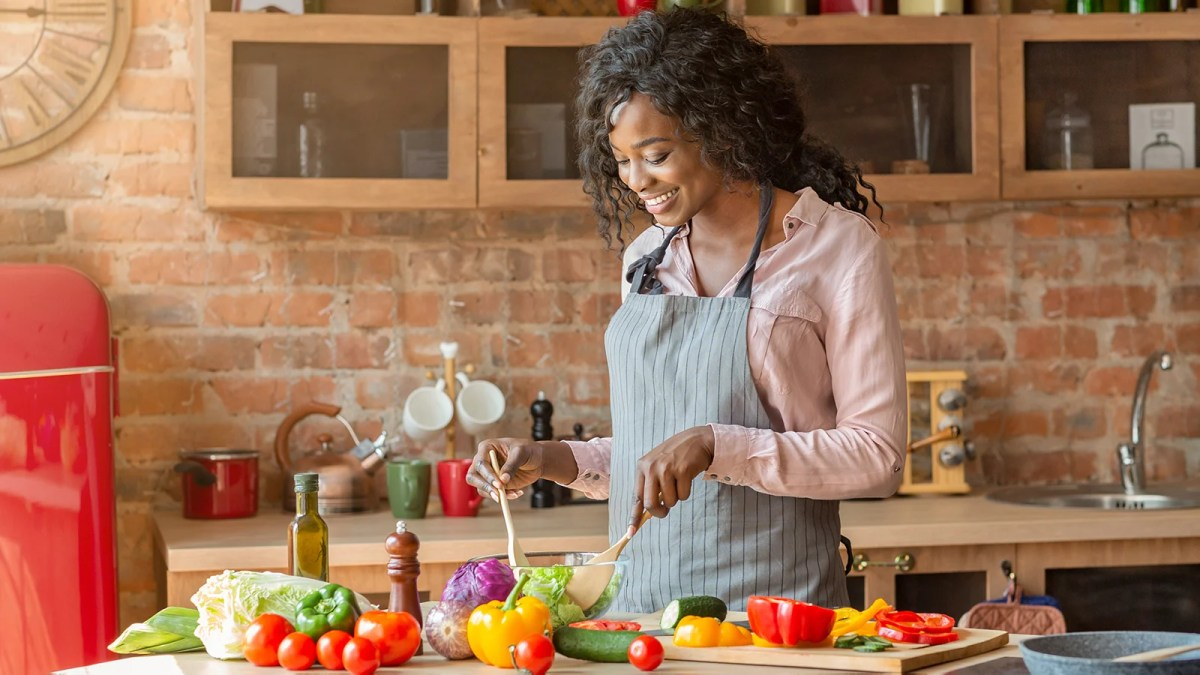 Woman following a plant-based diet